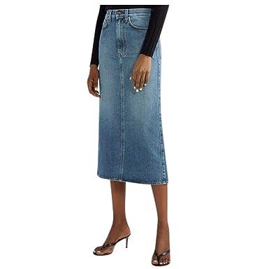 Vectry Faldas Mujer Moda Mujer Cintura Alta Bolsillos De Color ...