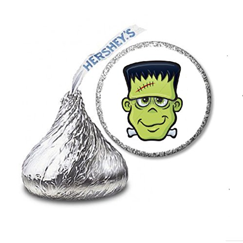 JS&B Enterprises 216 Frankenstein Halloween Labels/Stickers for Hershey's Kisses Candies - Party Favors]()