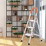 Giantex Non-slip 3 Step Aluminum Ladder Folding Platform Stool 330 lbs Load Capacity