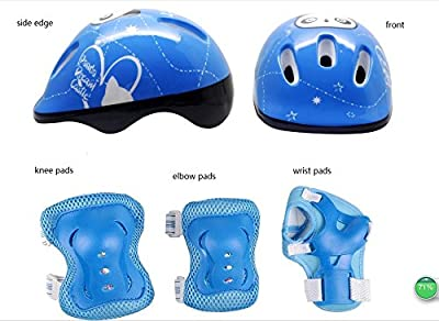Child's Multi-sport Bike Helmet and Protective Gear with Elbow Knee Wrist Pads For Kids Balance Car Scooter Cycling