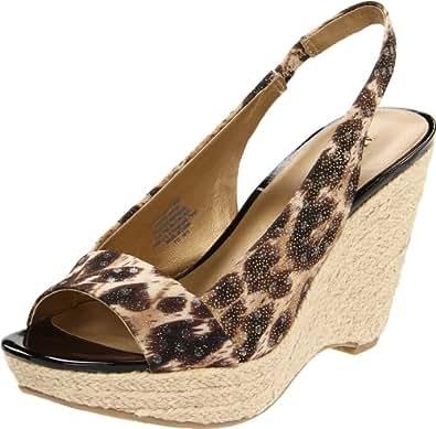 AK Anne Klein Women's Fortuna Wedge Sandal,Leopard,7.5 M US