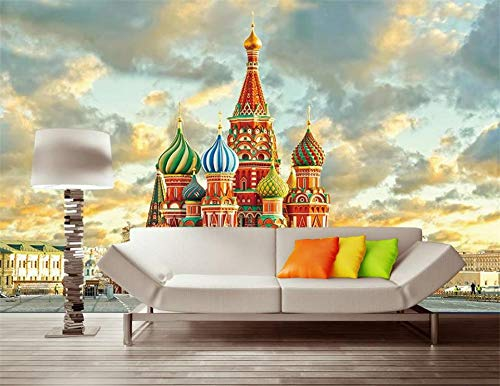 (Duleen 3D Mural Wallpaper Custom Made Decoration Russia Moscow Castle Oil Painting Sofa Tv Background Wall Sticker 400Cmx300Cm|157.48(in) X118.11(in))