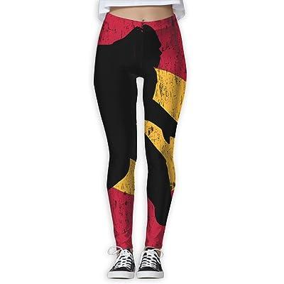 Colorado Flag Bigfoot Women's Stretchable Sports Running Yoga Workout Leggings Pants