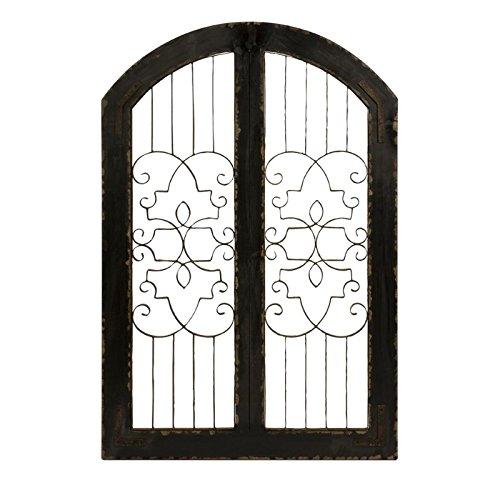 IMAX 47367 Amelia Iron & Wood Gate - Wrought Iron Garden Gate