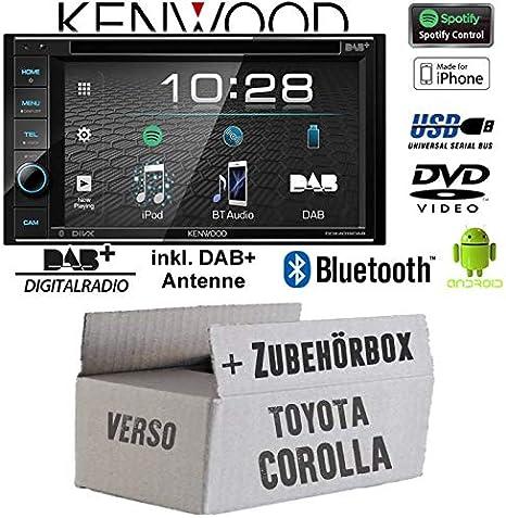 Radio para coche Toyota Corolla Verso negra Kenwood ...