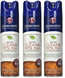 Guardsman Clean & Polish For Wood Furniture - Woodland Fresh - 12.5 oz - Silicone Free, UV Protection - 460700 (3-(Pack))