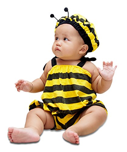 DeluxeMarche Bee Fancy Costume Infant Unisex Baby 100% Cotton Clothes (Bee S, 4-7 Months) -