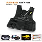 Ennrui Kids Tactical Vest Jacket Kit For Apollo Zeus Atlas ball gun (comes with Seamless Skull Face Mask + Windproof Protective Goggles + 2pcs Ball bullet clip+ 24pcs Yellow ball bullet)