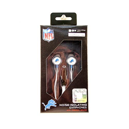 Zeikos NFL Detroit Lions iHip Ear Buds with Microphone by Zeikos