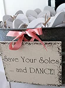 Norma Lily Save Your Soles and Dance - Señal de Boda para Chanclas (8 x 10): Amazon.es: Jardín
