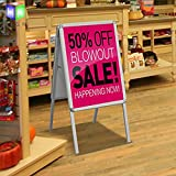 Portable A-Frame Advertising Display Stand Double Side Snap Picture Poster Frame Advertising Display