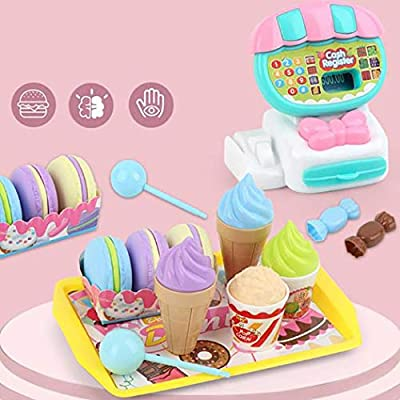 weepo Kids Durable Cash Register Toy Simulation Toy Set Role Play Pretend Toy Set (22pcs/Set): Home & Kitchen