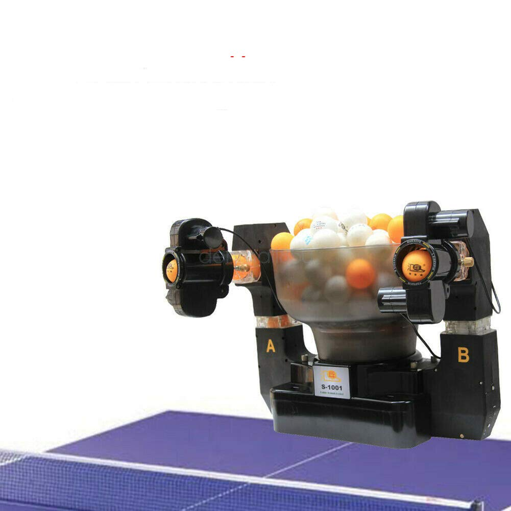US DELIVER Spins Ping Pong Ball Machine Automatic Table Tennis Robot for Training