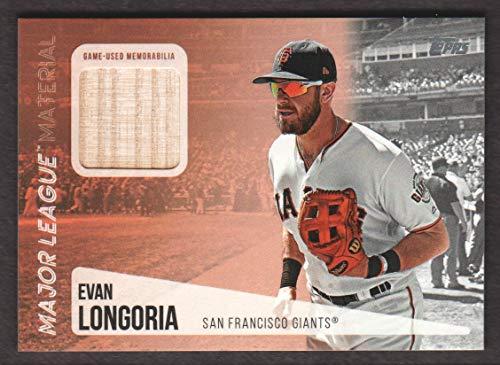 (2019 Topps Major League Material Baseball #MLM-EL Evan Longoria S2 BAT)