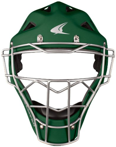 Champro Youth Pro Plus Catcher's Helmet (Forest Green, 6.5-7-Inch) (Professional Hockey Style Catchers Helmet)