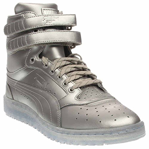 Puma Sky II Hi Platinum Mens Silver Leather High Top Lace Up Sneakers Shoes 14