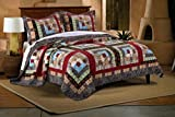 Greenland Home 3 Piece Colorado Lodge Quilt Set, Full/Queen