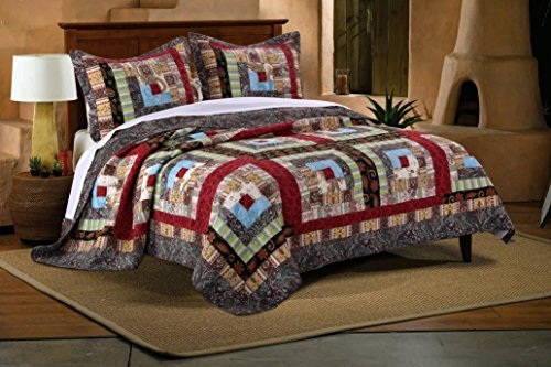 Greenland Home GL-1601CMSK 3 Piece Colorado Lodge Quilt Set, King (Country Quilts King Size)