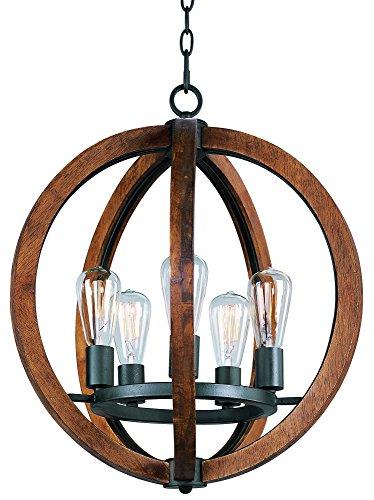 (Maxim Lighting 20917APAR Single-Tier Bodega Bay 5-Light Chandelier)