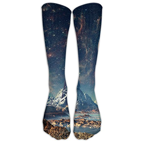 Yvun Unisex Creative Universe Planet Casual Cotton Crew Socks For Men And Women Running   Fitness Best Medical Nursing Travel   Flight Socks