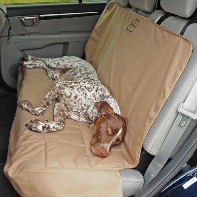 Petego Car Seat Protector, Rear, Tan