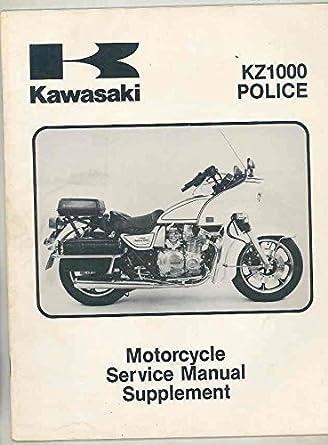 amazon com 1983 kawasaki kz1000 police motorcycle shop repair rh amazon com kz1000 service manual pdf kz1000 workshop manual