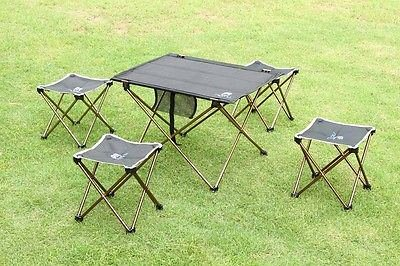 Foldable Folding Table Desk Camping Outdoor Picnic Aluminium Alloy Ultra-light by CampingSurvivals