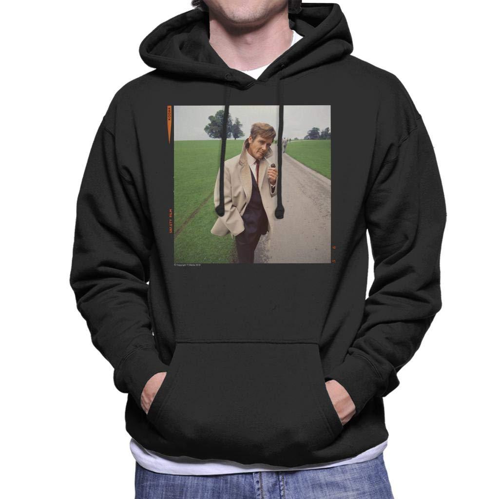 TV Times Roger Moore Park Stroll 1968 Men's Hooded Sweatshirt