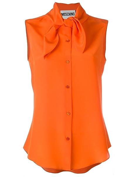 Moschino Mujer J2170537a0112 Naranja Seda Camisa