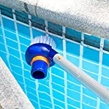 qiguch66 Portable Pool Underwater Cleaner Brush Scrubber Tool,Swimming Pool Fish Pond Wall Cleaning