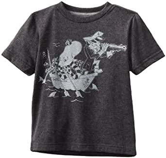 Quiksilver Little Boys' Thar She Blows Kids Tee, Charcoal Heather, 5/Small