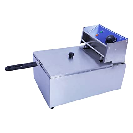 OnlineWorld Commercial Professional Stainless Steel Single Electric Fryer (Single) with Capacity…