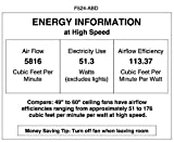 52 ceiling fans without lights - Minka-Aire F524-ABD, Roto, 52