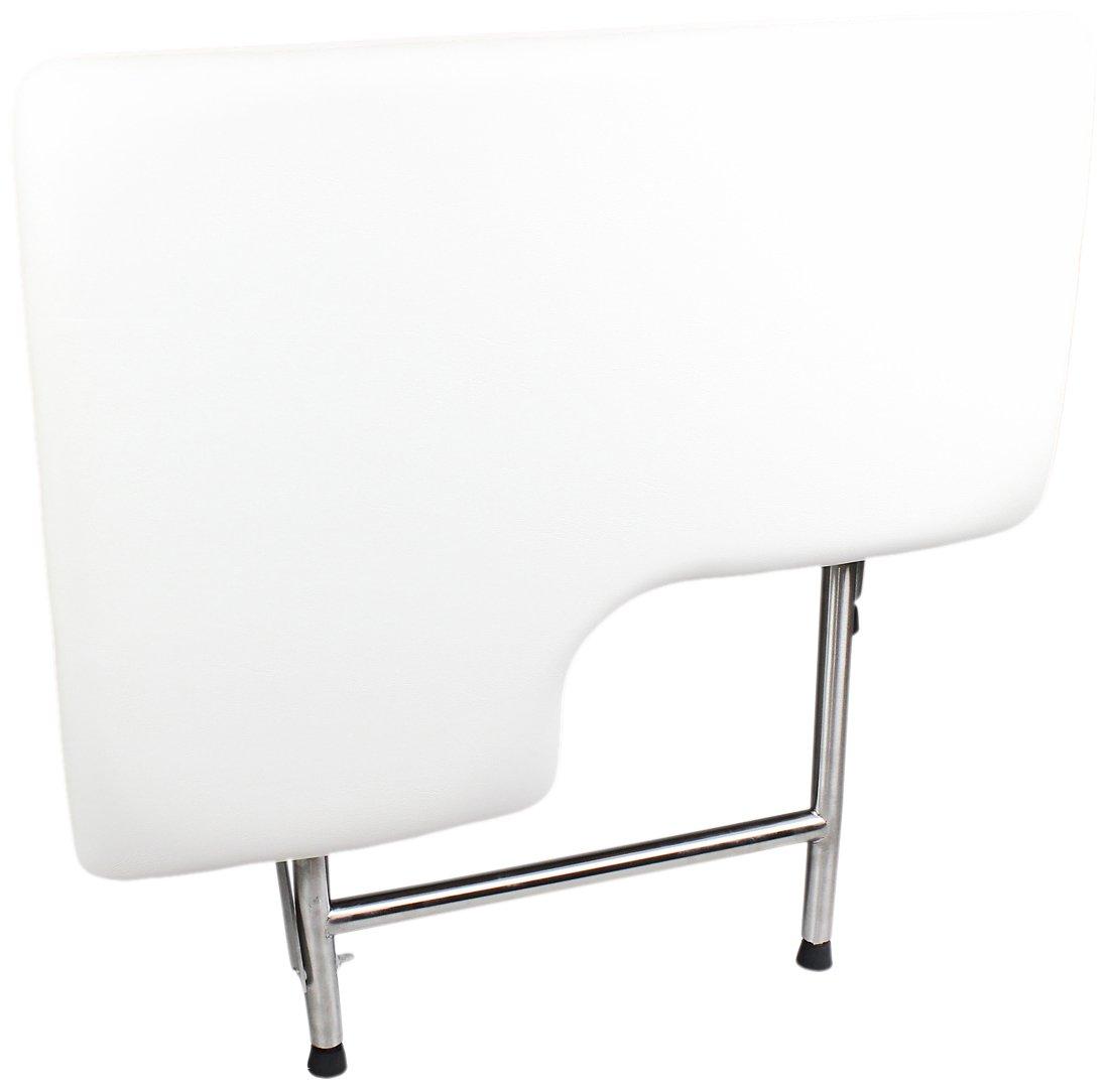 CSI Bathware SEA-SD3221-RH-PA ADA Bathroom Shower Bath Seat, Folding, Wall-Mounted, Right Hand, Padded Seat, 32-Inch by 21-Inch