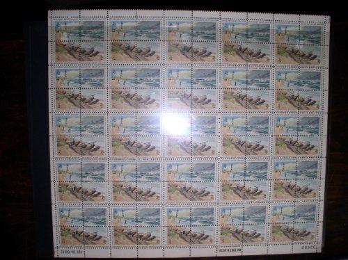 - 1972 National Park Centennial Cape Hatteras Seashore USPS Commemorative Stamp (Sheet of 100)