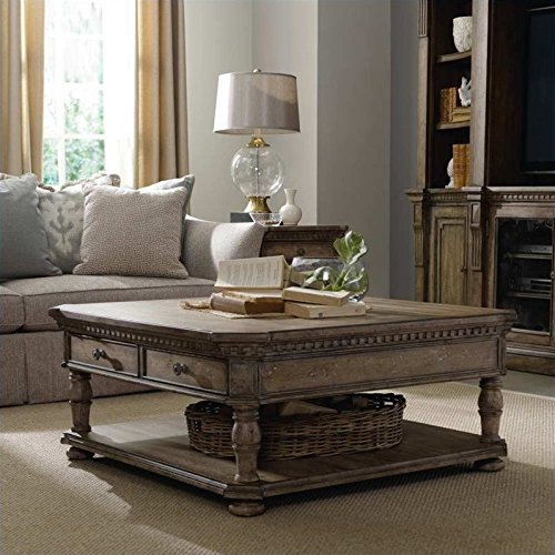Hooker Furniture Sorella Rectangle Cocktail Coffee Table in Light Wood
