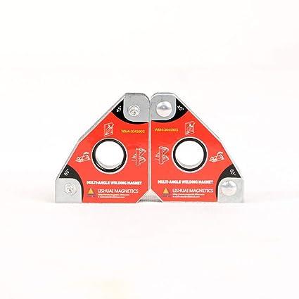 Plaza de soldadura magnética compacta, soporte imán neodimio Interruptor encendido/apagado Abrazadera cuadrado 45