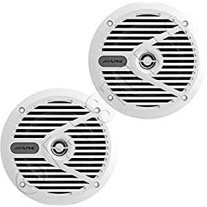 "Alpine SPS-M601W 110W 6A1/2"" 2-Way Type-S Marine Coaxial Speakers - White"
