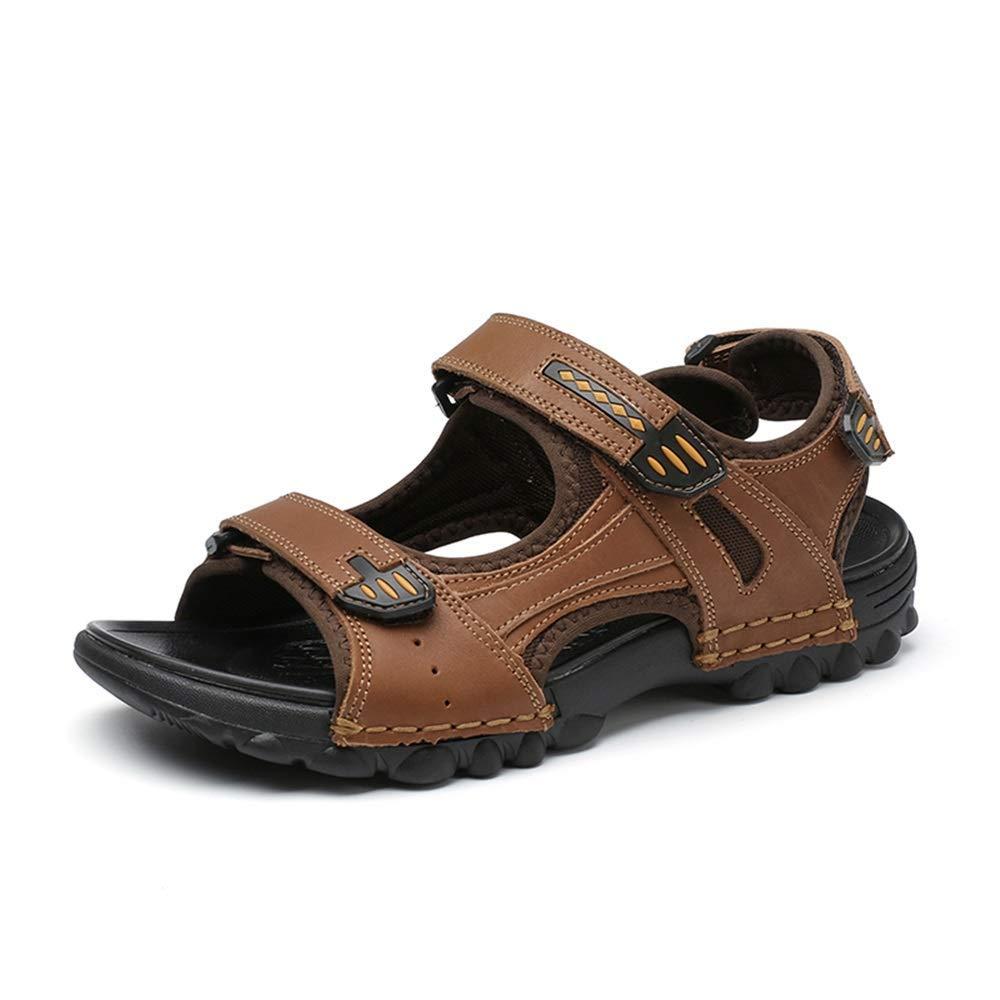 BAIF Sandales à la Mode à Bout Ouvert, Crochet et Boucle, Plage légère, Grande Taille, Chaussures d'été pour Hommes (été  Couleur  Marron, Taille  6.5 UK) marron 6.5 UK