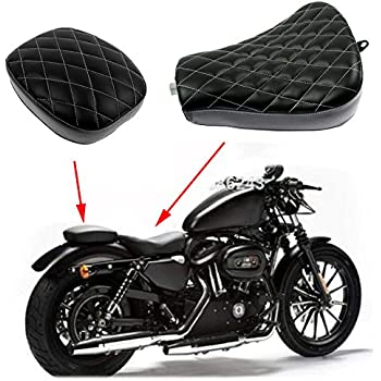 Amazon com: Motorcycle Black Diamond Vinyl Leather Stitched