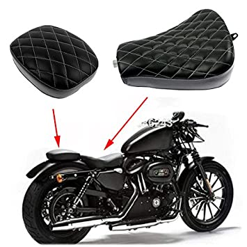 Amazon.com: Motocicleta diamante Frontal Rider Solo Asiento ...