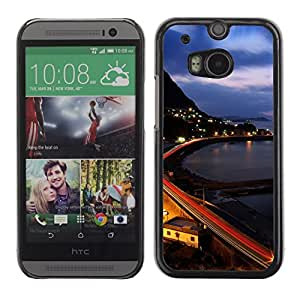 Hot Style Cell Phone PC Hard Case Cover // M00103473 cityscapes towns places // HTC One M8
