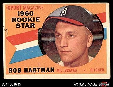 Amazoncom 1960 Topps 129 Rookie Star Bob Hartman