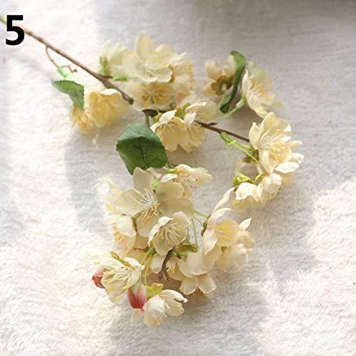 Bullker 1 Bouquet Wedding Cafe Shop Bridal Fake Artificial Cherry Blossom Flower Decor - ()