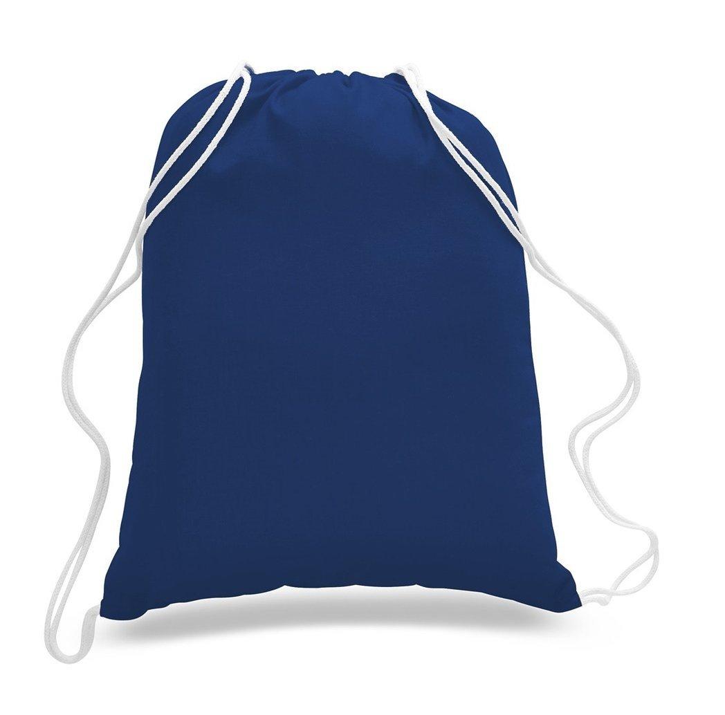Great Deal! (12 Pack) 1 DOZEN Budget Friendly Sport Drawstring Backpack%100 Cotton Bags for Sport,Gym or Promotional Plain Backpacks (ROYAL)