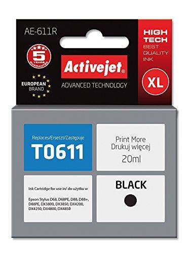 ActiveJet AE-611R cartucho de tinta Compatible Negro 1 pieza(s ...