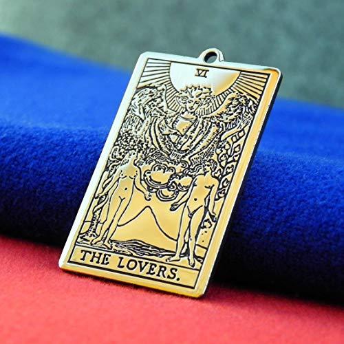 Amazon com: Tarot jewerly, Tarot Card The Lovers, The sixth