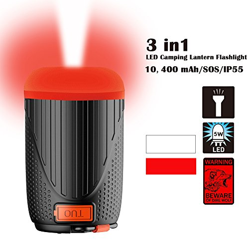 Panoraxy Camping LED Lantern Flashlight,USB Charger Tent Outdoor Light,10400mah Power Bank,500lm Lantern,1800lm Torch,Two-Color SOS,Beast Repellent Atmosphere,for Camping,Emergency,Hurricane by P Panoraxy (Image #7)