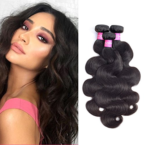 Original Queen 8A Grade Brazilian Virgin Hair Body Wave 100% Human Hair 3 Bundles Weaves Unprocessed Hair Extensions Natural Color 22 24 26 Inches