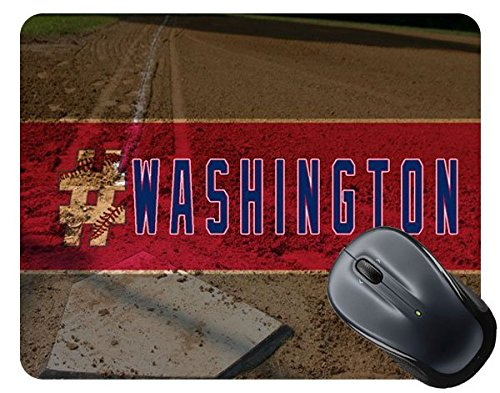 Washington Baseball Square (BleuReign(TM) Hashtag Washington #Washington Baseball Team Square Mouse Pad)